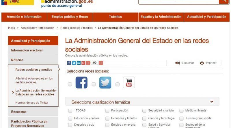 Buscador Redes Sociales Gobierno Central