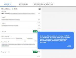 Búsqueda Beta Google Ads