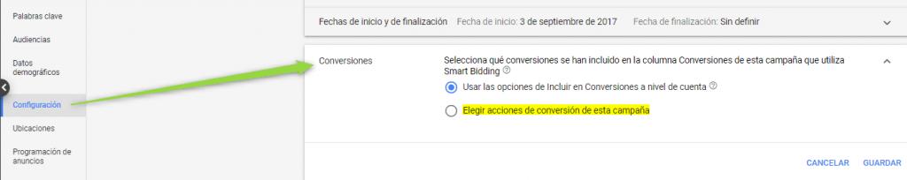 Conversión Campaña Google Ads