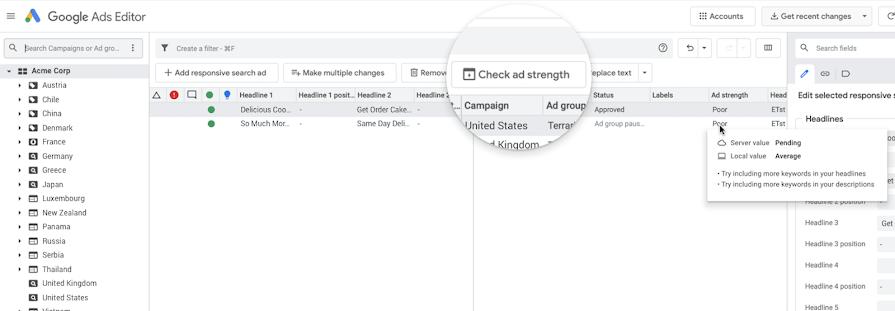 Editor de Google Ads v1.5