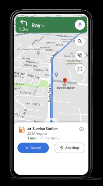 Navigation Ads Google Maps