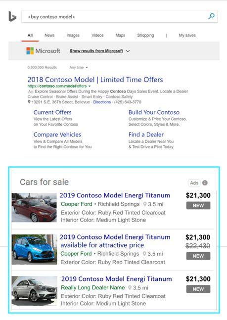 Microsoft Advertising Automotive Ads