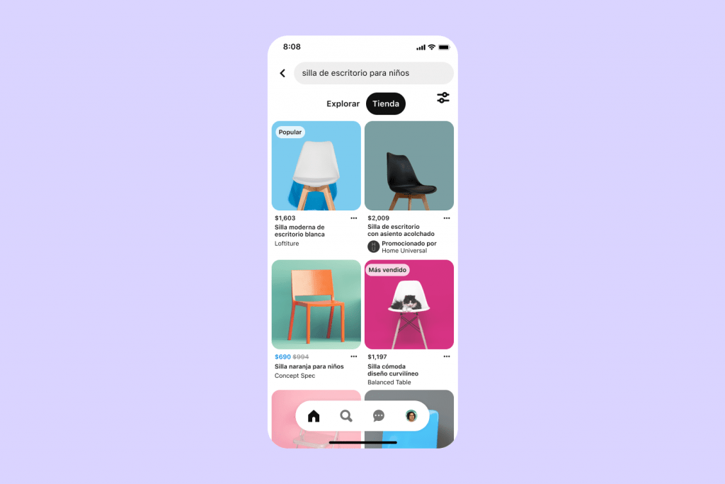 Búsqueda Comprar en Pinterest