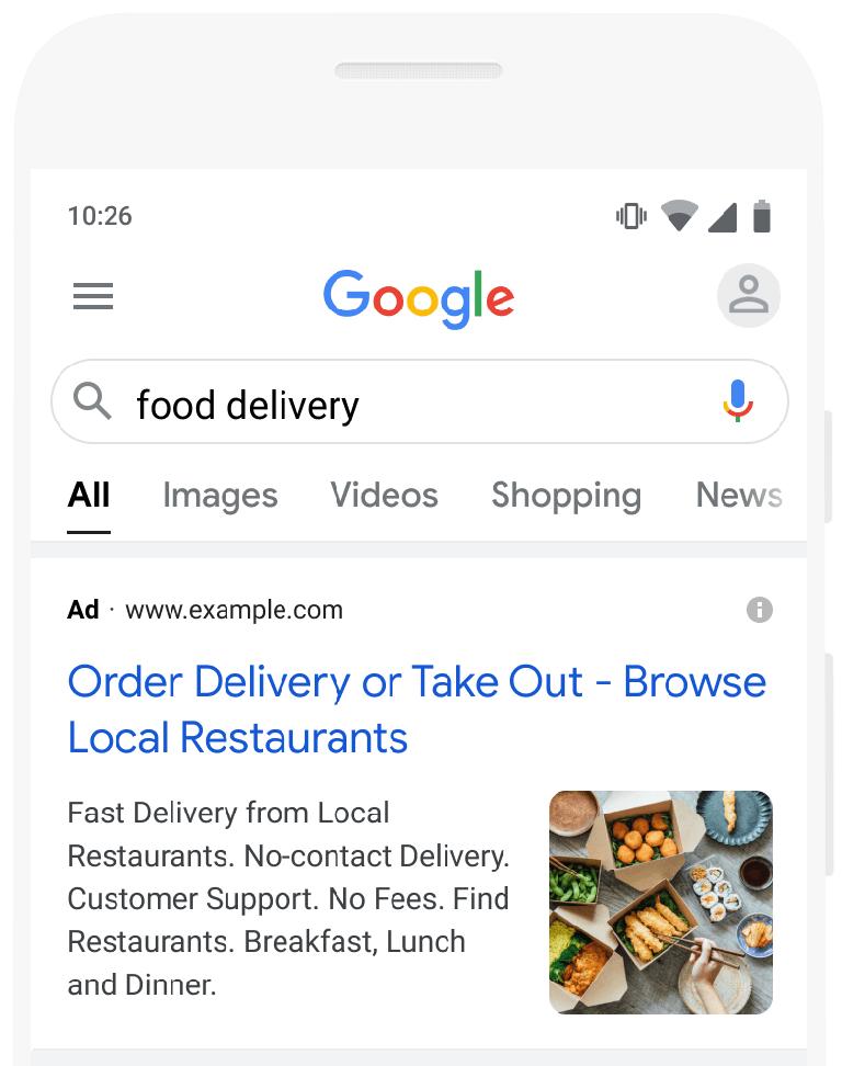 Extensión de imagen en Google