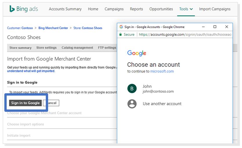 Importar Catalogo Microsoft Google Ads