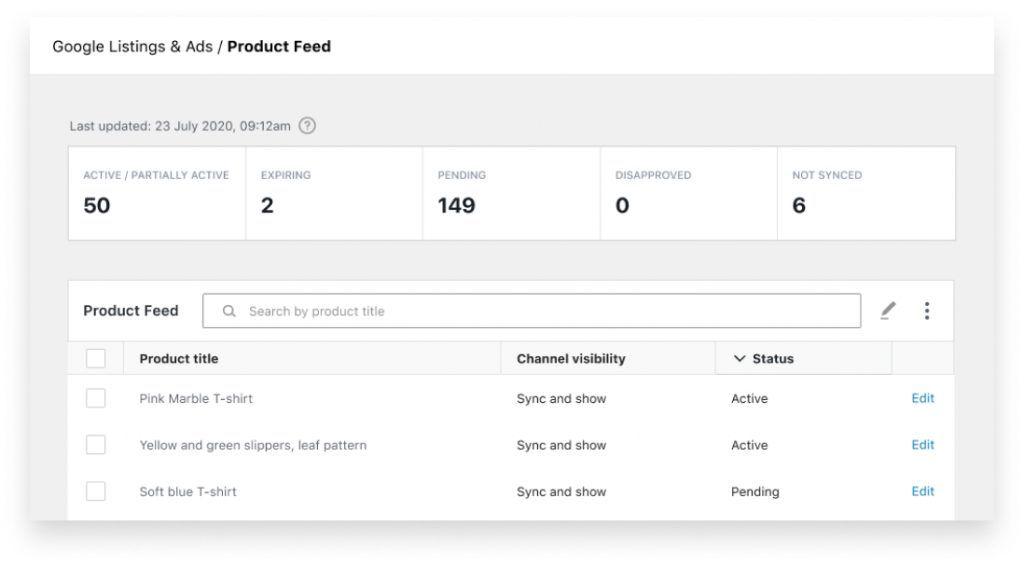 Catálogo WordPress Google Shopping WooComerce