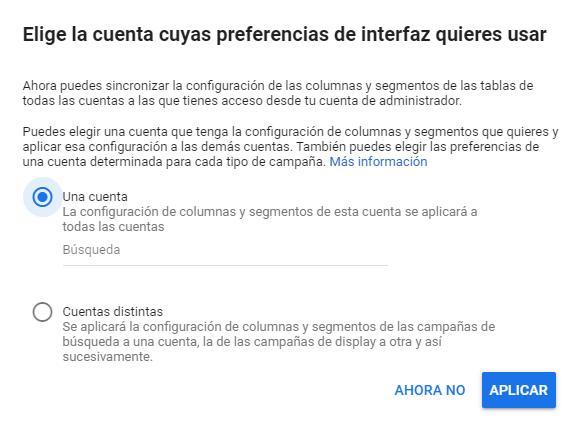 Sincronizar Columnas Google Ads