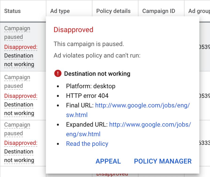 Políticas Google Ads